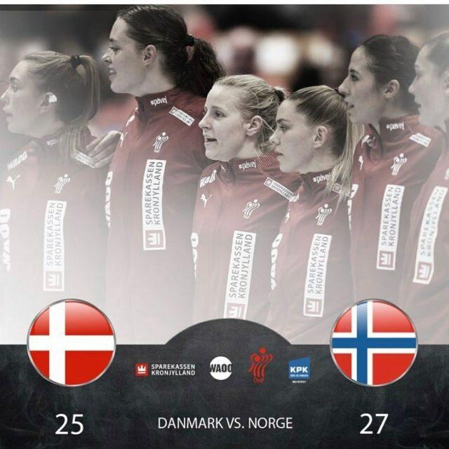 Igår spillede @haandbolddamerne første testkamp mod Norge forud for EM på hjemmebane. Det blev til et lille nederlag på 25-27 efter en ellers velspillet kamp af danskerne, men selvom kampen ikke blev vundet, har vi alligevel lyst til glæde os over, at vores @miarej90 blev kåret til kampen spiller og at vores @andreaaagot fik scoret sit 1. mål i landsholdstrøjen 💪🏻Stærkt gået!!!!@miarej90 præsenteres til dagligt af @advokatfirmaet.nygaard og @andreaaagot præsenteres af #kojregnskabsservice 🤍🖤#kbhbolddk #rej90 #hansen34